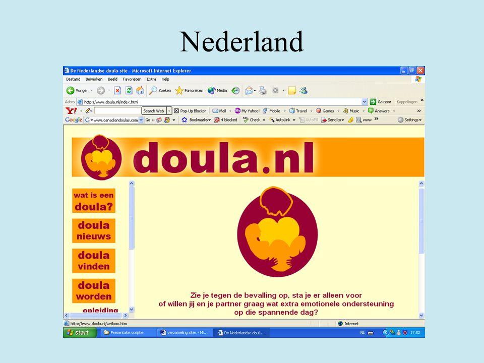 Nederland Opleiding sinds januari 2006 Doula. nl KNOV: NVO