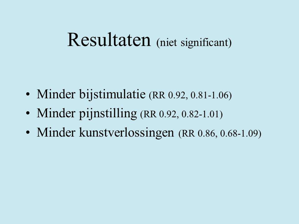 Resultaten (niet significant)