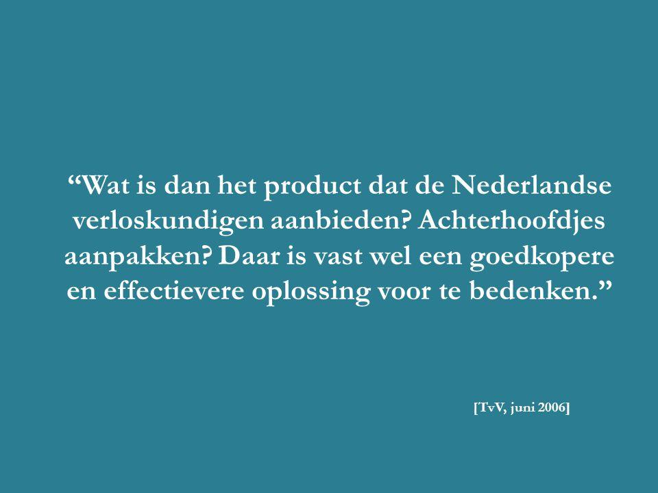 Wat is dan het product dat de Nederlandse verloskundigen aanbieden