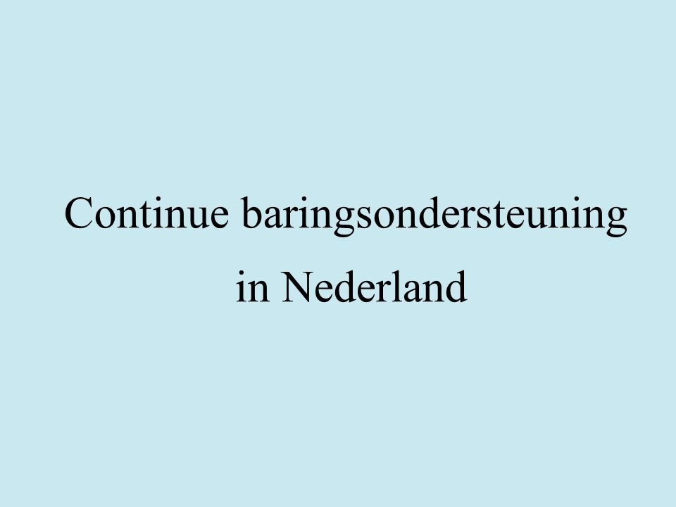 Continue baringsondersteuning in Nederland