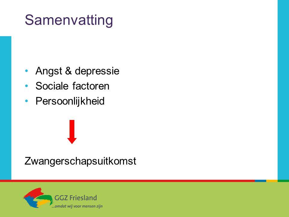 Samenvatting Angst & depressie Sociale factoren Persoonlijkheid