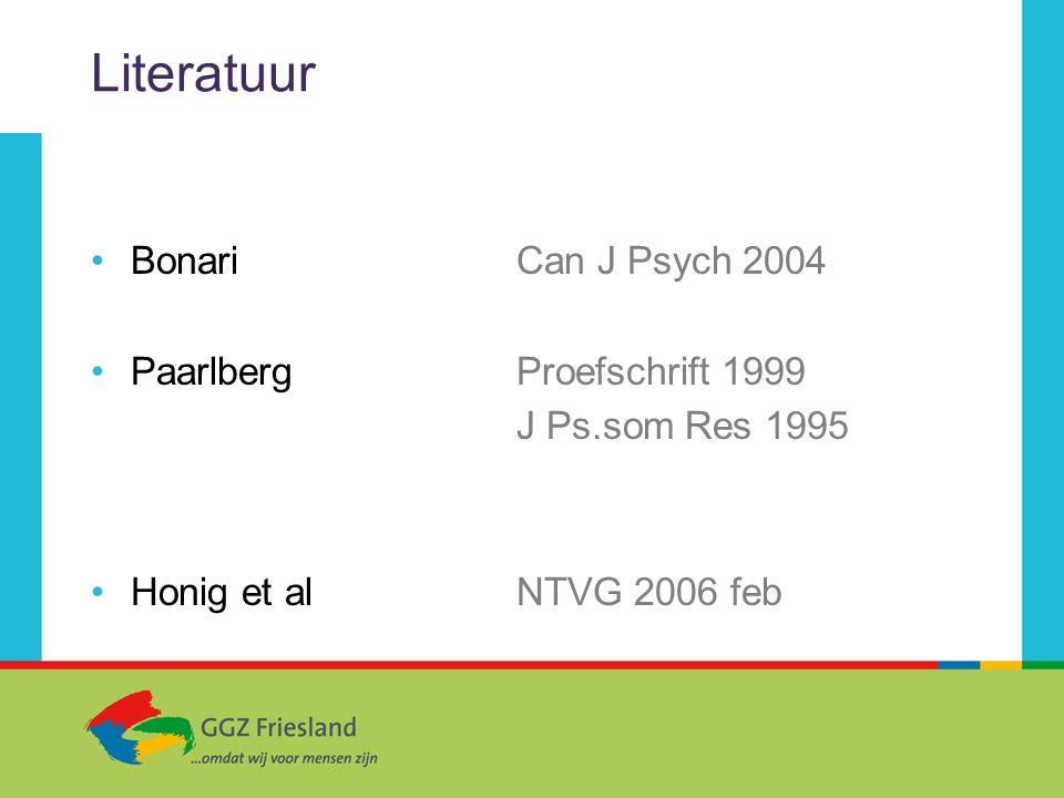 Literatuur Bonari Can J Psych 2004 Paarlberg Proefschrift 1999