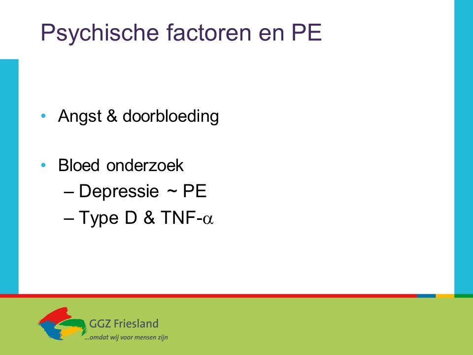 Psychische factoren en PE