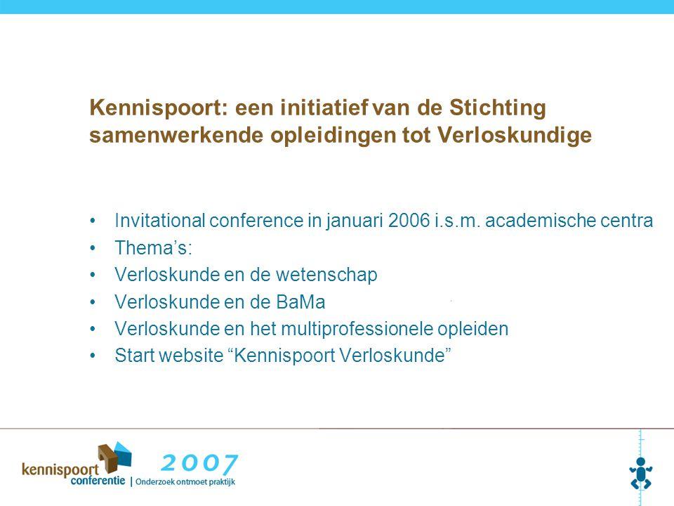 Kennispoort: een initiatief van de Stichting samenwerkende opleidingen tot Verloskundige