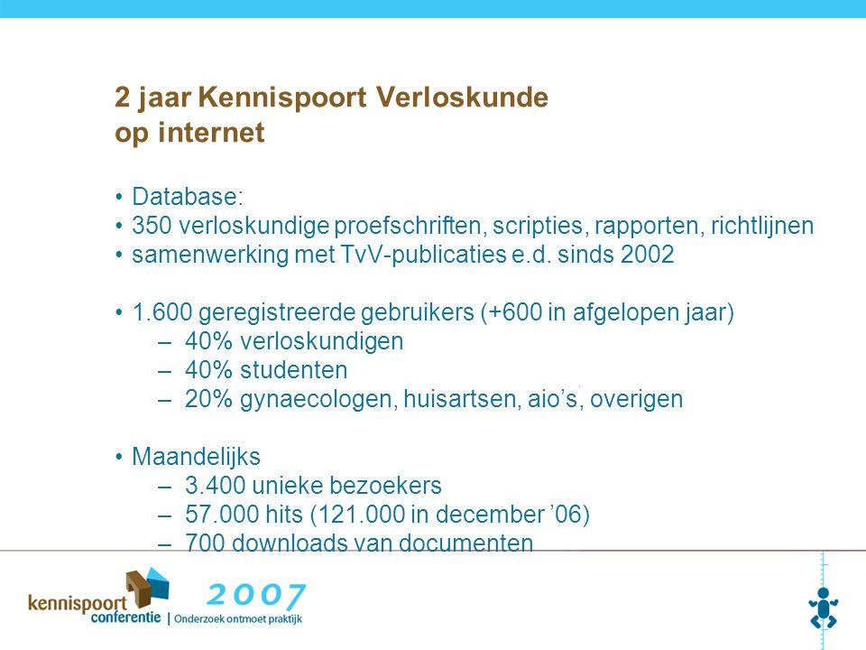 2 jaar Kennispoort Verloskunde op internet