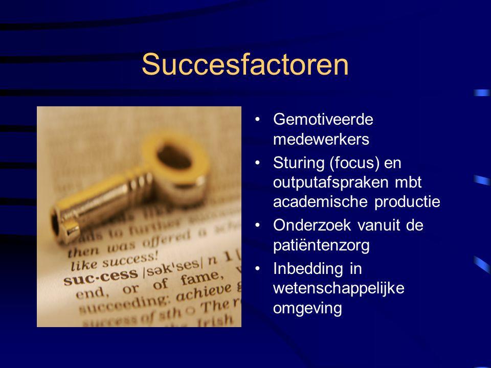 Succesfactoren Gemotiveerde medewerkers
