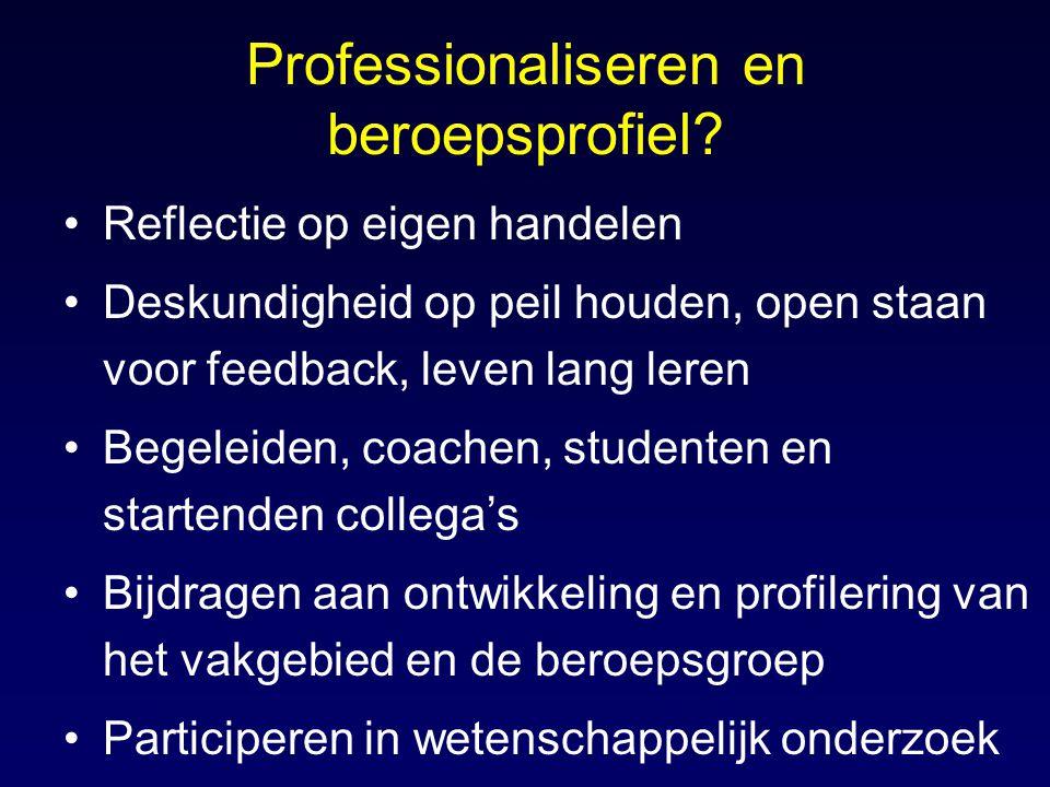 Professionaliseren en beroepsprofiel