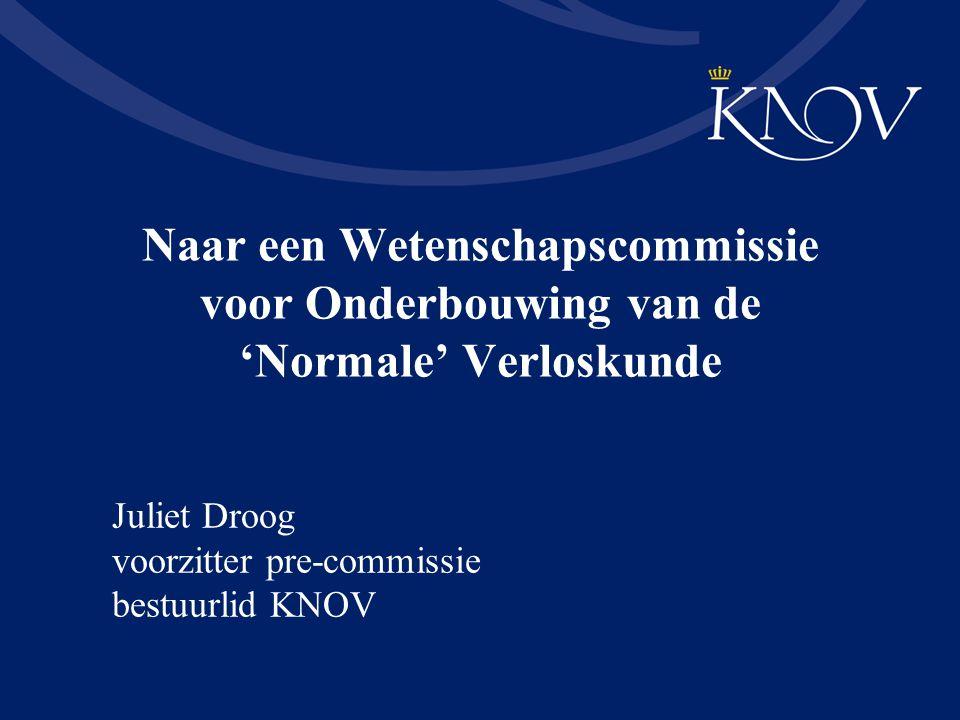 Juliet Droog voorzitter pre-commissie bestuurlid KNOV