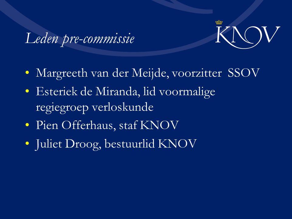 Leden pre-commissie Margreeth van der Meijde, voorzitter SSOV