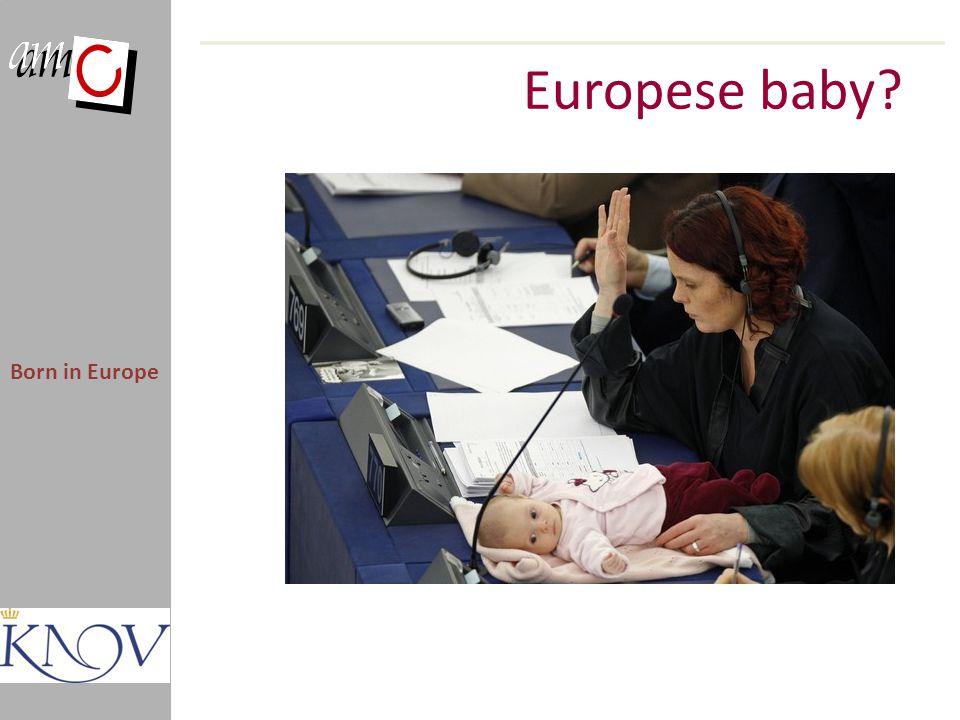 Europese baby Born in Europe