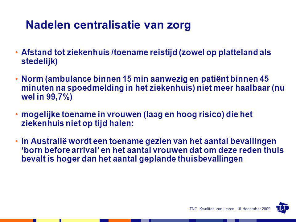 Nadelen centralisatie van zorg