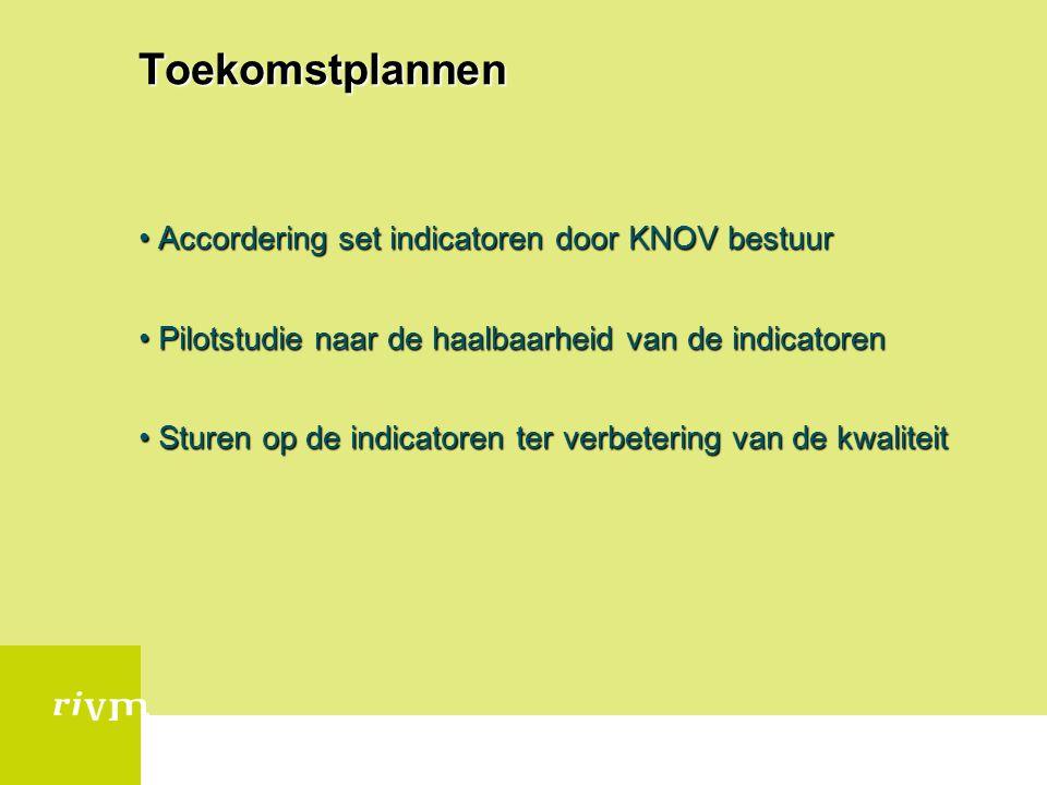 Toekomstplannen Accordering set indicatoren door KNOV bestuur