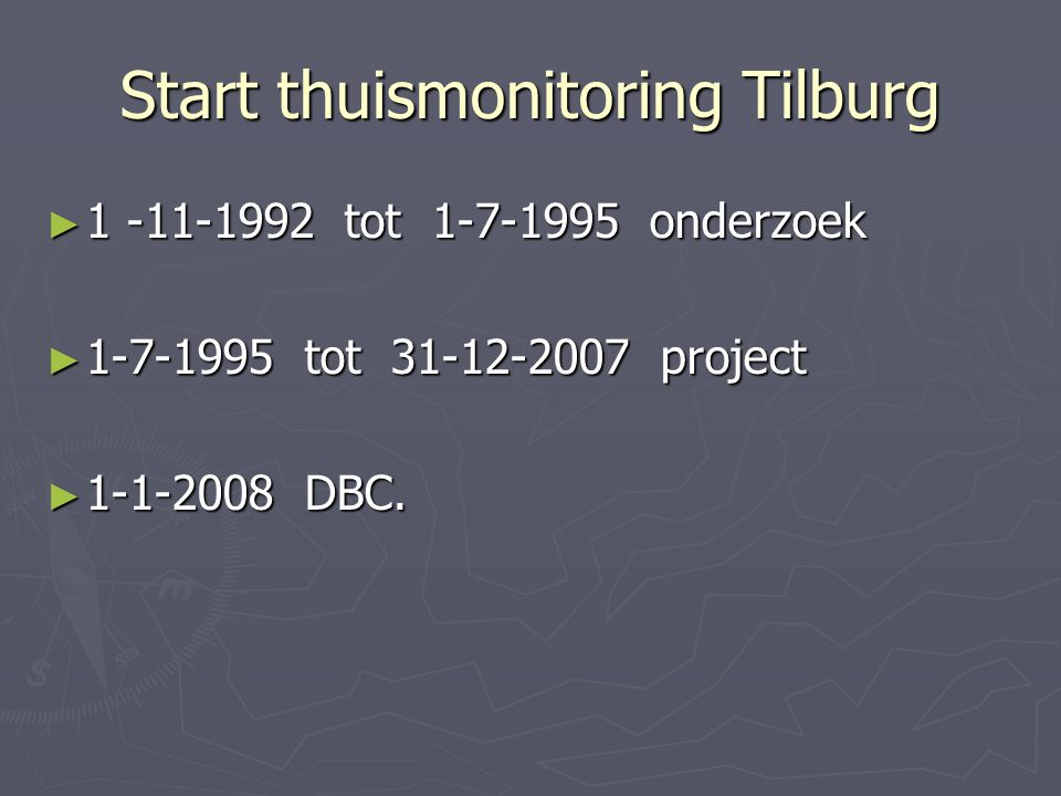 Start thuismonitoring Tilburg
