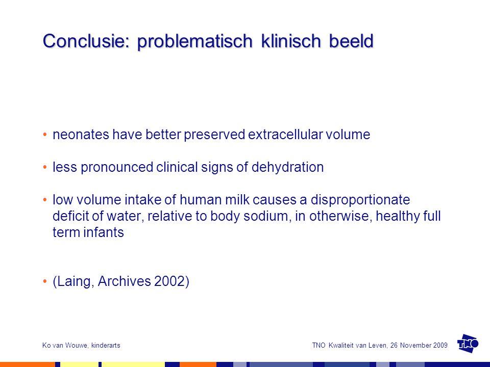 Conclusie: problematisch klinisch beeld