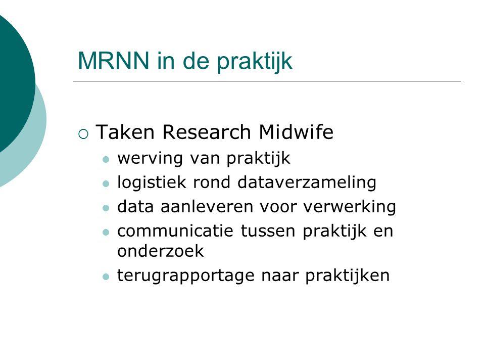 MRNN in de praktijk Taken Research Midwife werving van praktijk