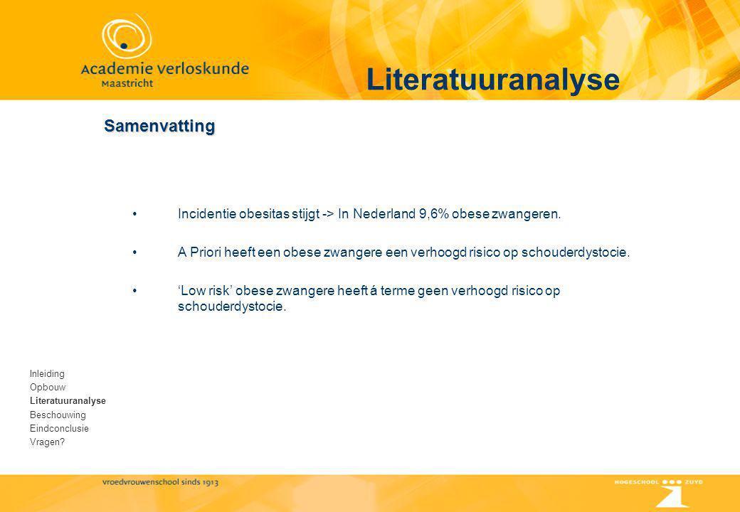 Literatuuranalyse Samenvatting
