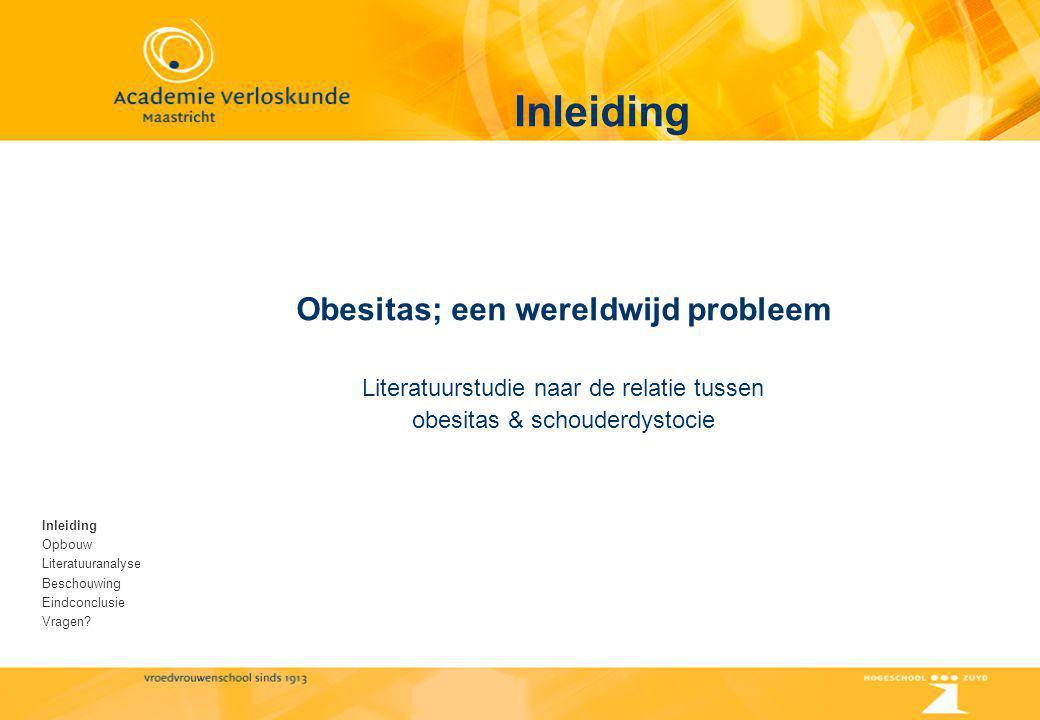 Obesitas; een wereldwijd probleem