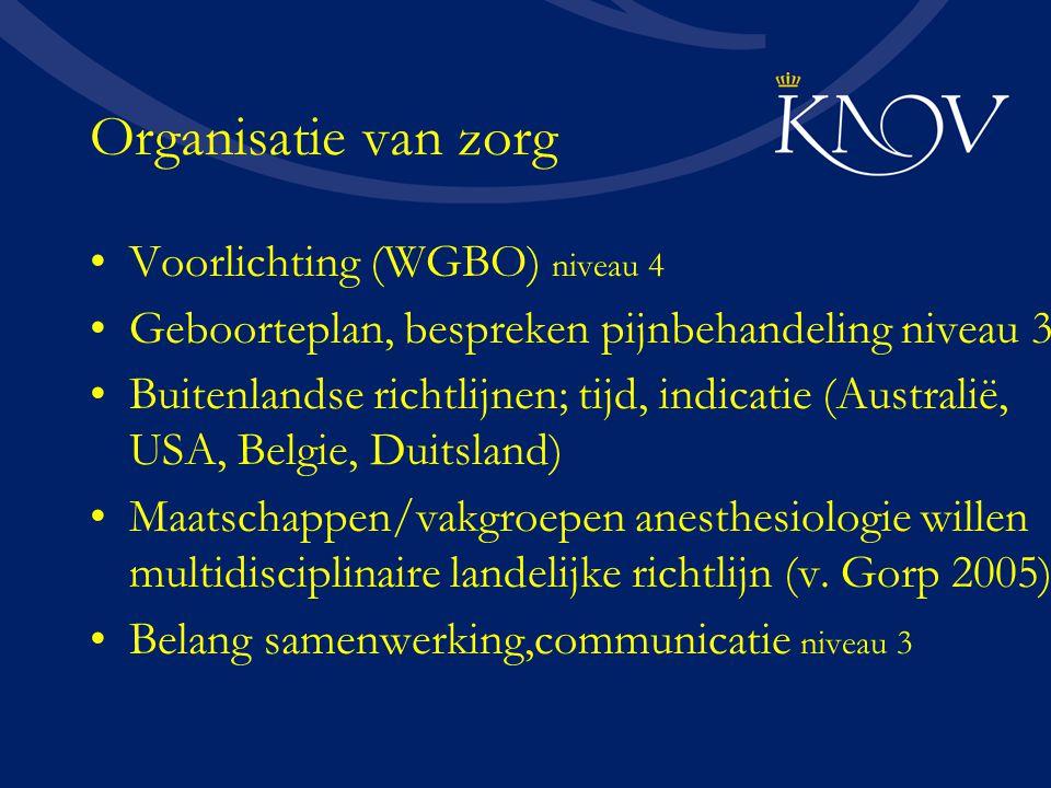 Organisatie van zorg Voorlichting (WGBO) niveau 4