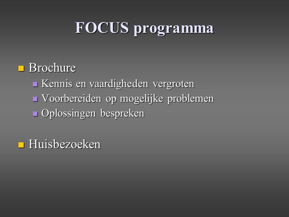 FOCUS programma Brochure Huisbezoeken Kennis en vaardigheden vergroten