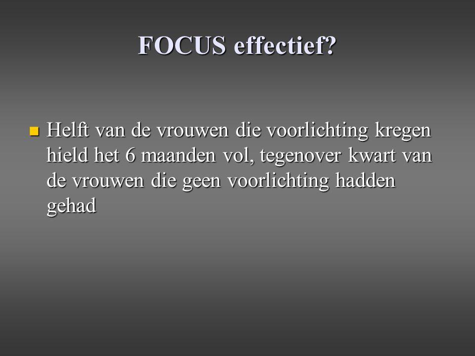 FOCUS effectief