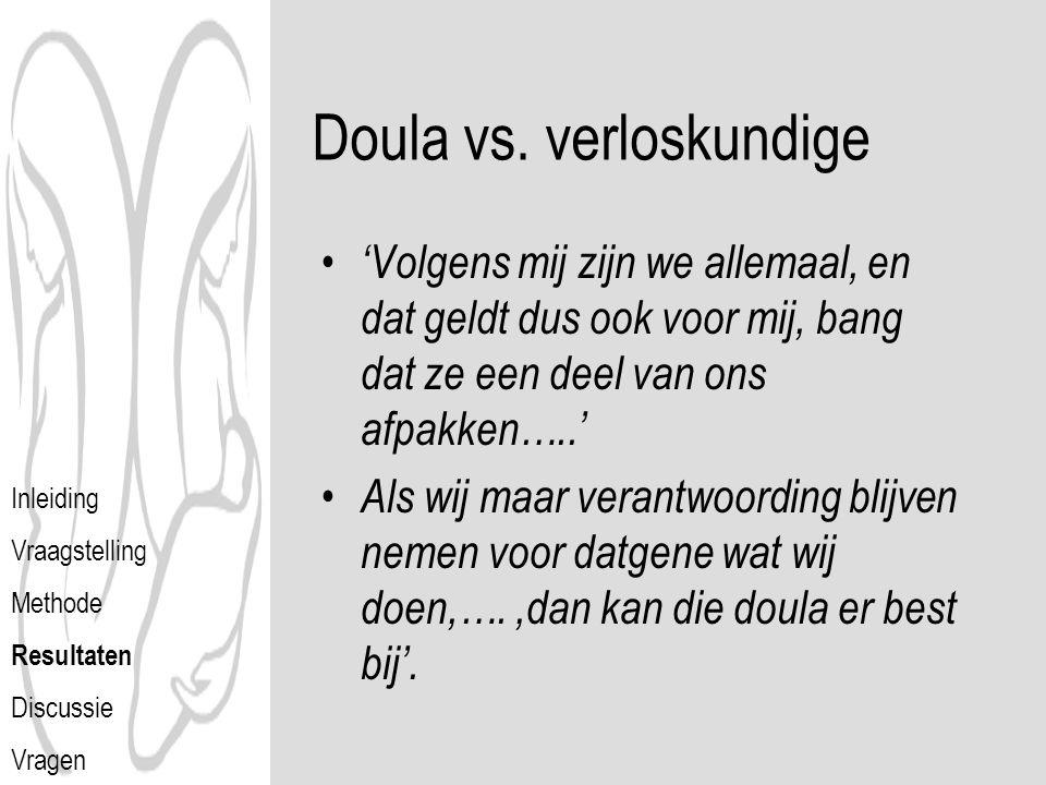 Doula vs. verloskundige