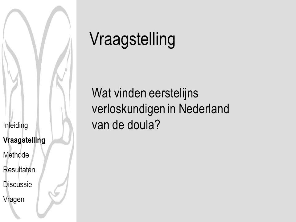 Vraagstelling Wat vinden eerstelijns verloskundigen in Nederland van de doula Inleiding. Vraagstelling.