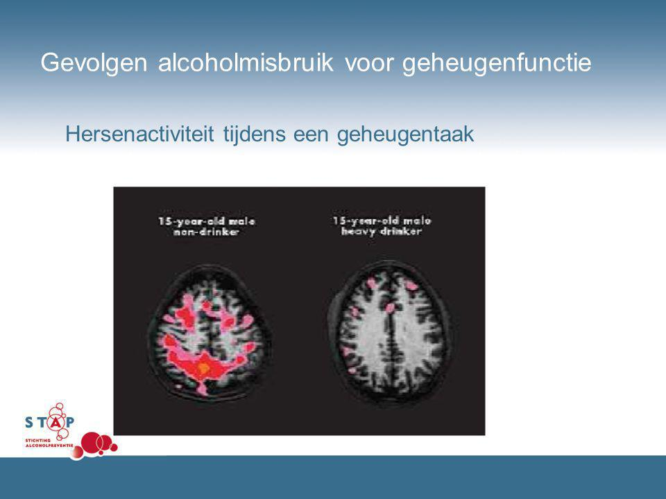 Gevolgen alcoholmisbruik voor geheugenfunctie