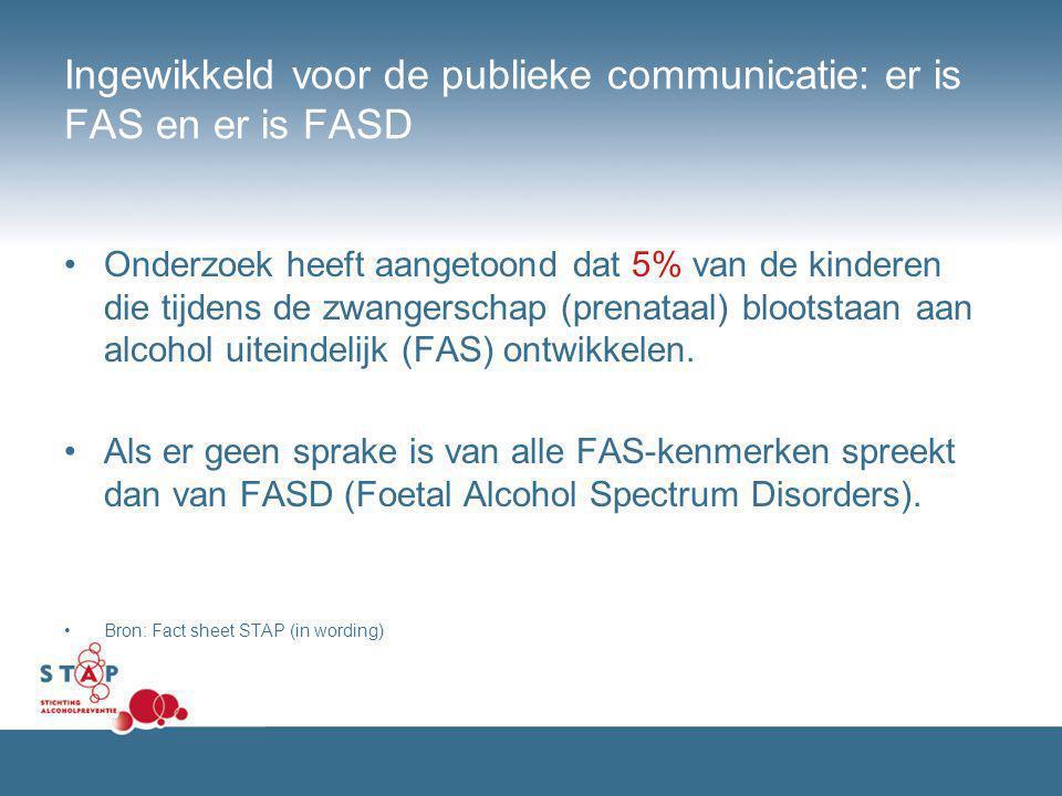 Ingewikkeld voor de publieke communicatie: er is FAS en er is FASD