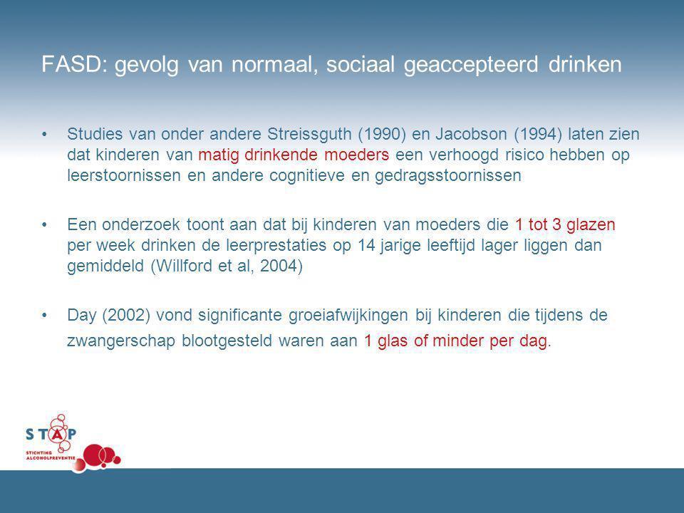 FASD: gevolg van normaal, sociaal geaccepteerd drinken