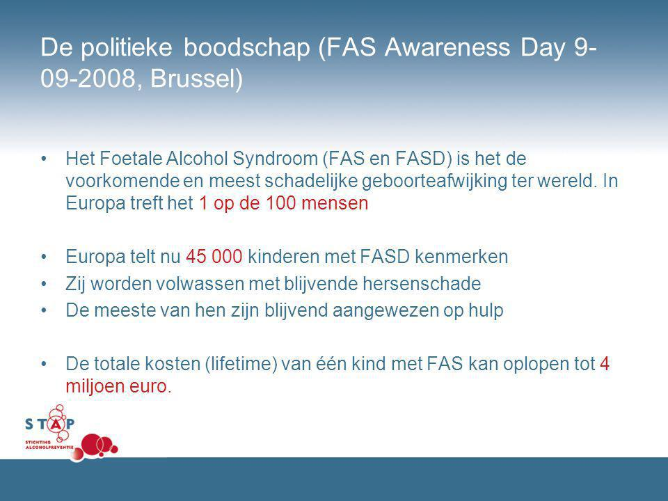 De politieke boodschap (FAS Awareness Day 9-09-2008, Brussel)