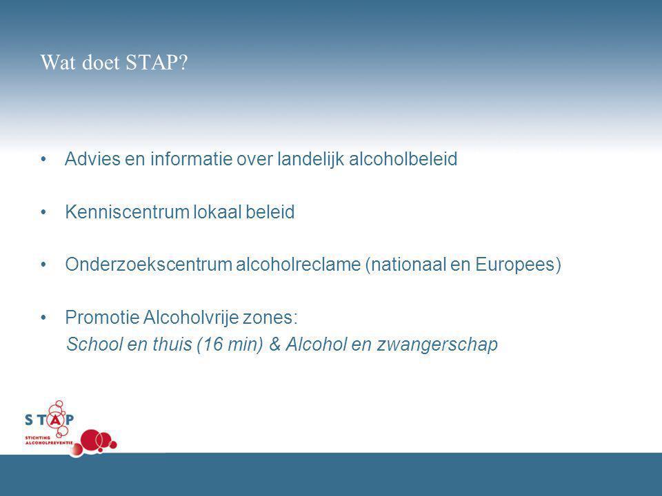 Wat doet STAP Advies en informatie over landelijk alcoholbeleid