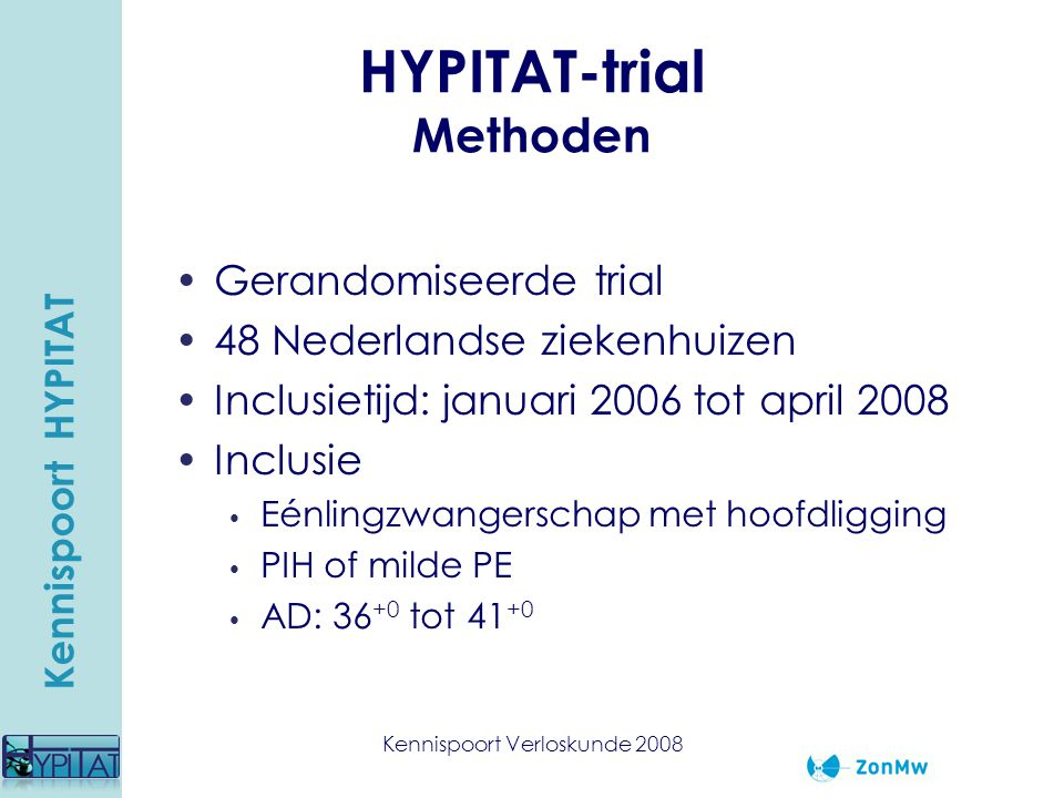 HYPITAT-trial Methoden