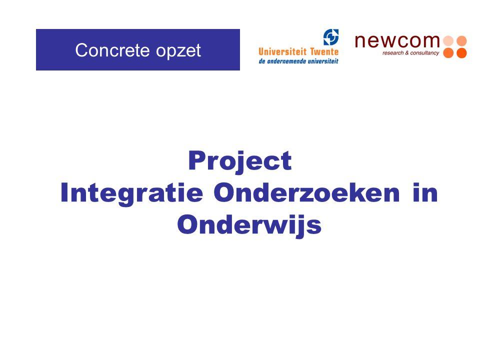 Project Integratie Onderzoeken in Onderwijs