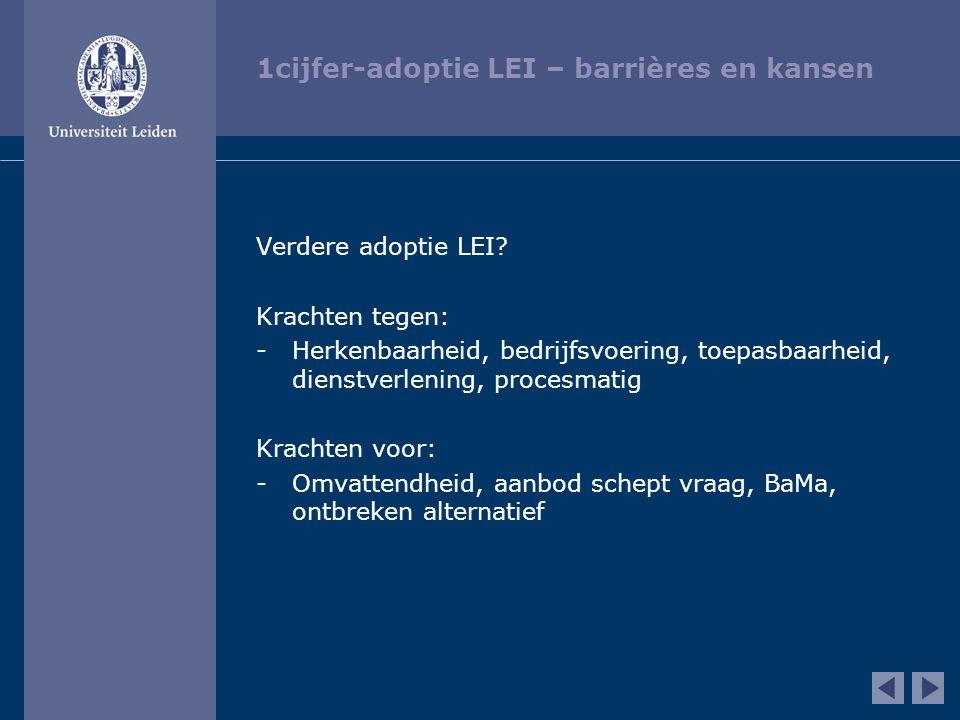 1cijfer-adoptie LEI – barrières en kansen