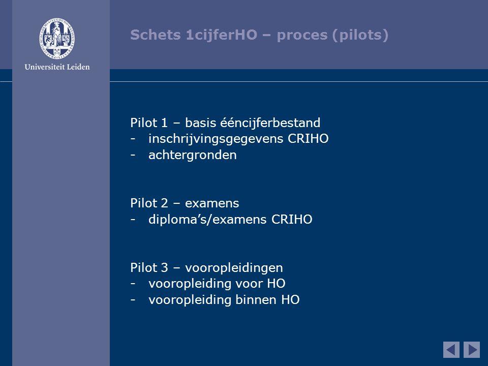 Schets 1cijferHO – proces (pilots)