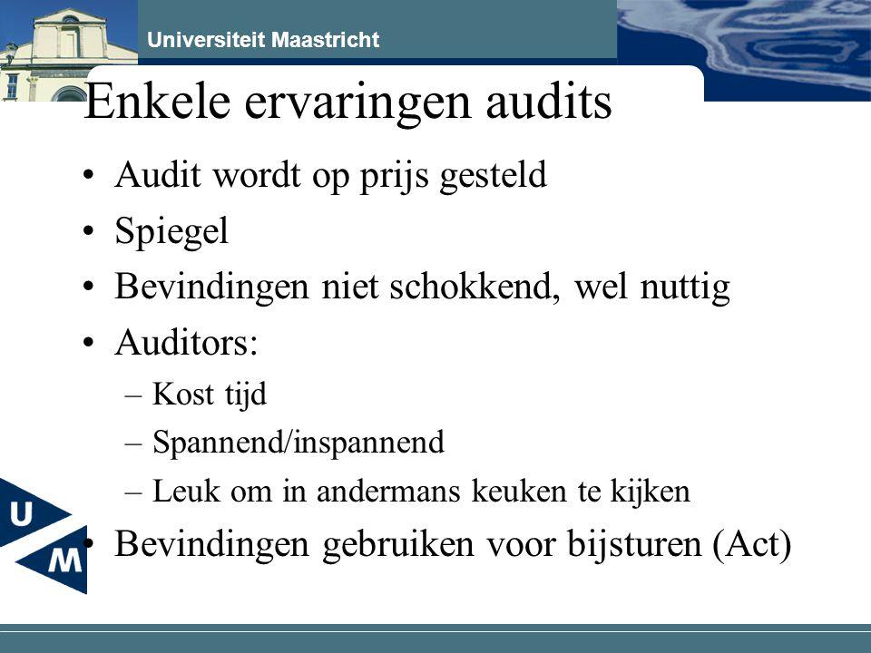 Enkele ervaringen audits