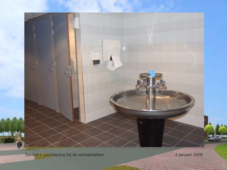 Sanitaire voorziening bij de werkplaatsen 4 januari 2008