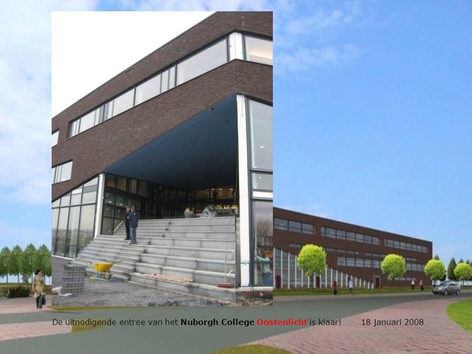 De uitnodigende entree van het Nuborgh College Oostenlicht is klaar