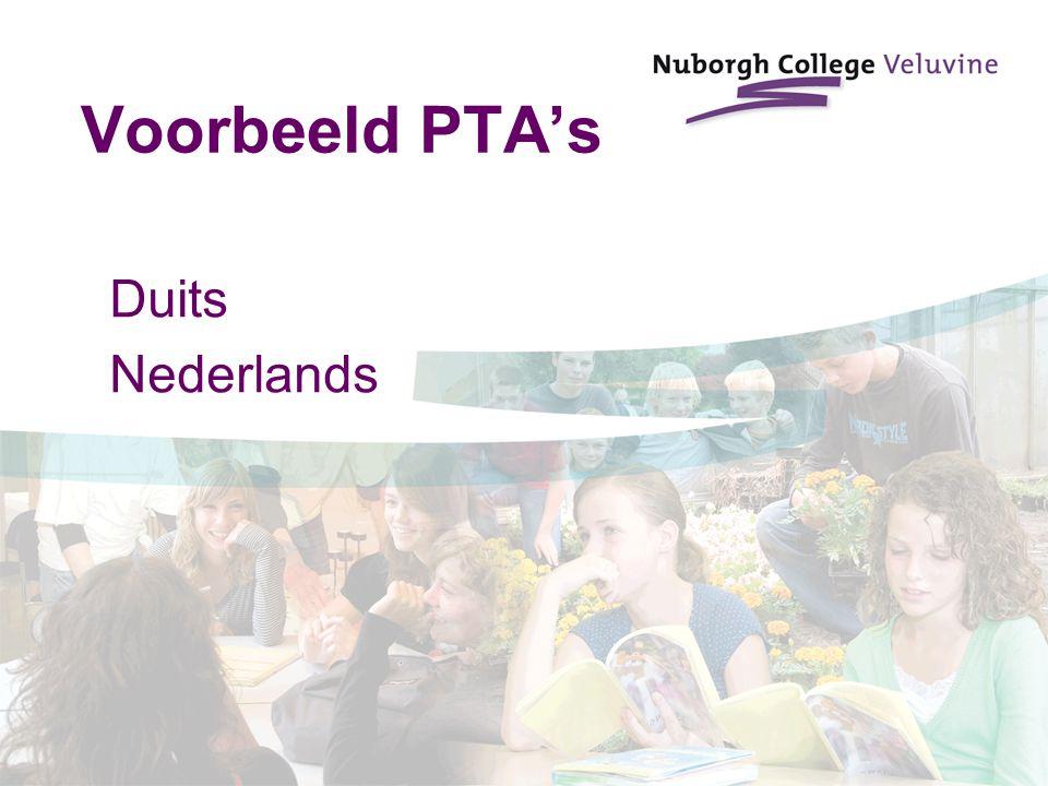 Voorbeeld PTA's Duits Nederlands