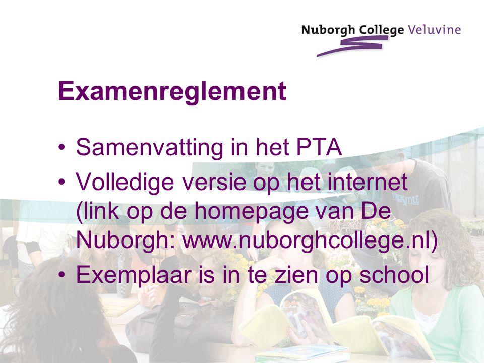 Examenreglement Samenvatting in het PTA