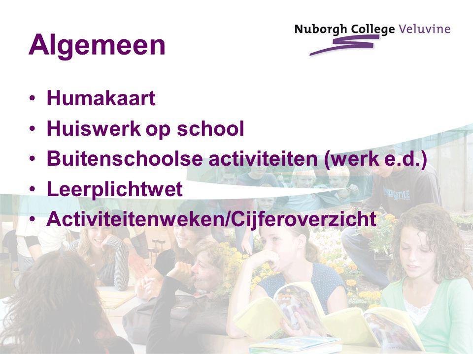 Algemeen Humakaart Huiswerk op school
