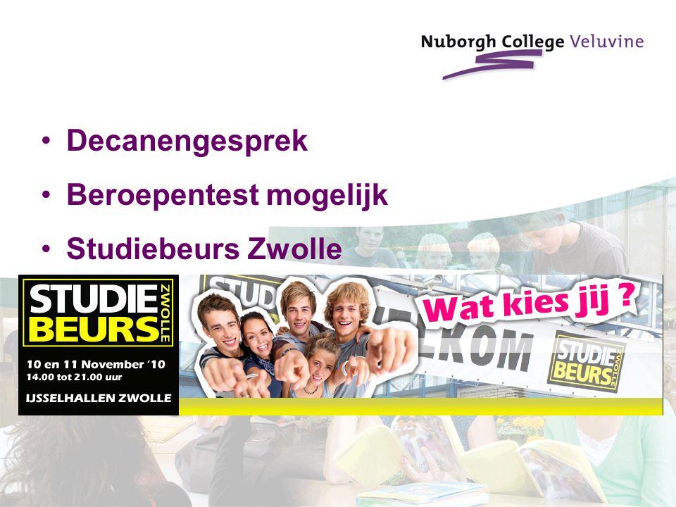 Decanengesprek Beroepentest mogelijk Studiebeurs Zwolle