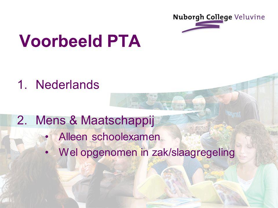 Voorbeeld PTA Nederlands Mens & Maatschappij Alleen schoolexamen