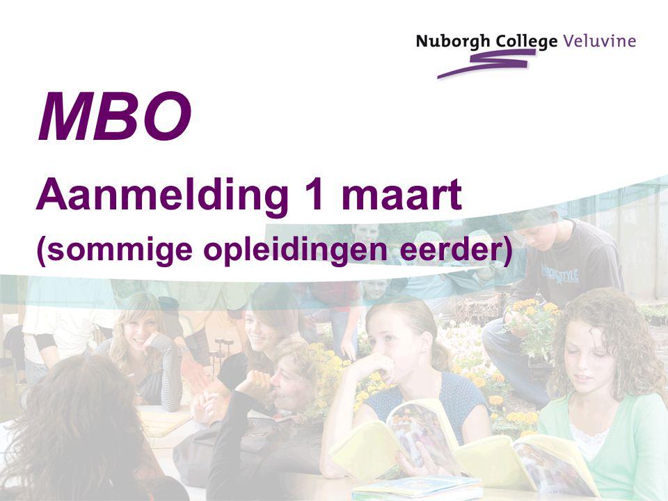 MBO Aanmelding 1 maart (sommige opleidingen eerder)