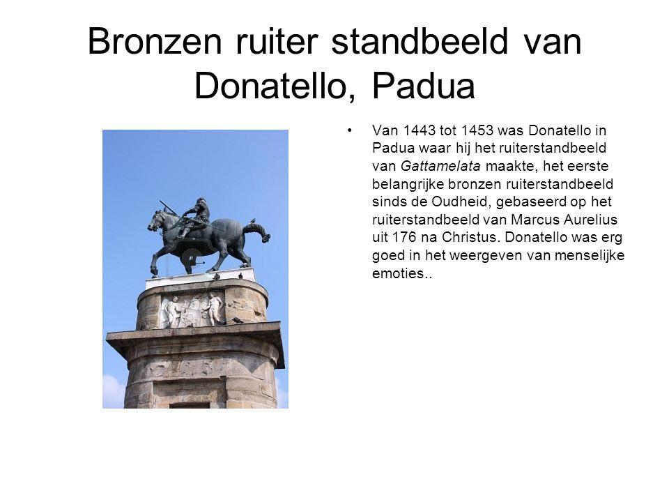 Bronzen ruiter standbeeld van Donatello, Padua