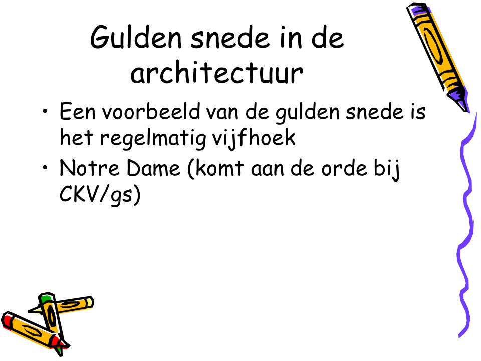 Gulden snede in de architectuur