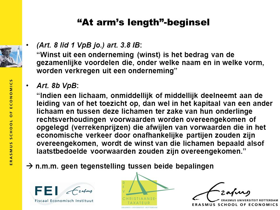 At arm's length -beginsel