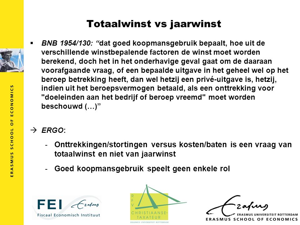 Totaalwinst vs jaarwinst
