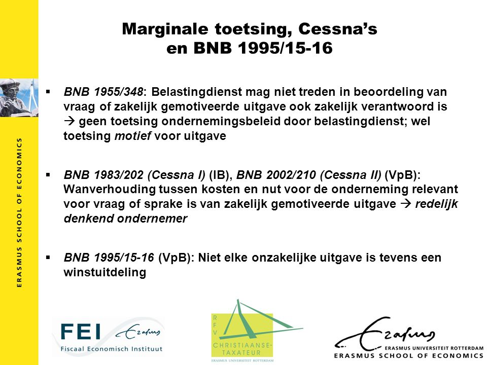 Marginale toetsing, Cessna's en BNB 1995/15-16