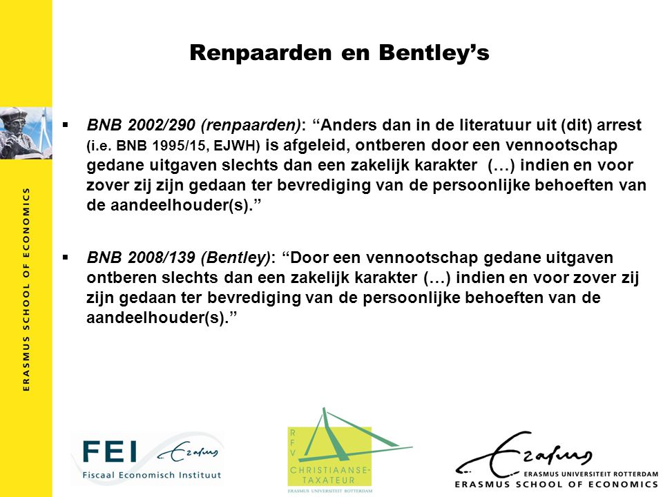 Renpaarden en Bentley's